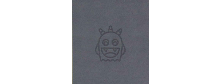 Grey Spooky Monster Spiral Notepad