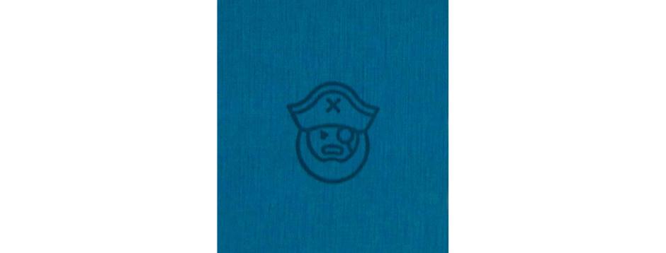 Blue Pirate Spiral Notepad