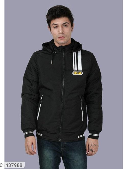 Butter NS Solid Full Sleeves Hoodie Jacket