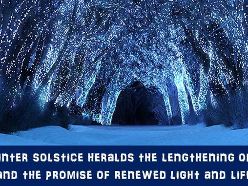 ✨ Happy Winter Solstice - A time of re-birth and renewal ✨