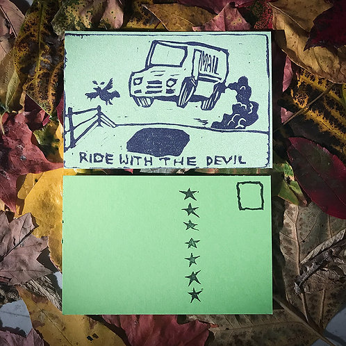 """""""Ride With The Devil"""" Postcard"""