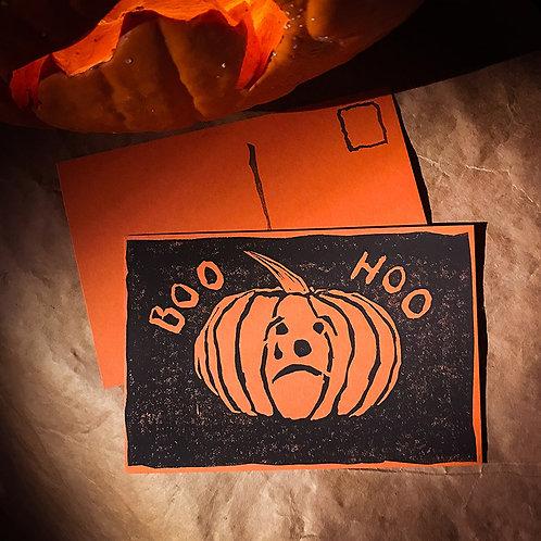 """""""Boo Hoo"""" Halloween Postcard"""