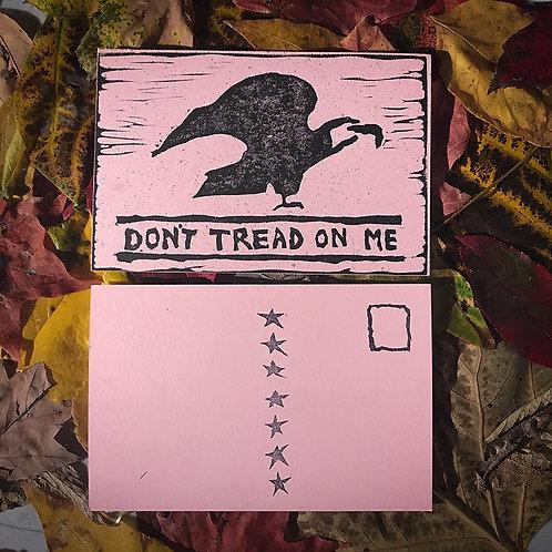 """Don't Tread On Me"" Postcard"