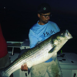 Had an awesome trip to #blockisland caught and released striped bass from dusk till dawn. Almost eve