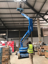Warehouse Cleaning Cherry picker Rental