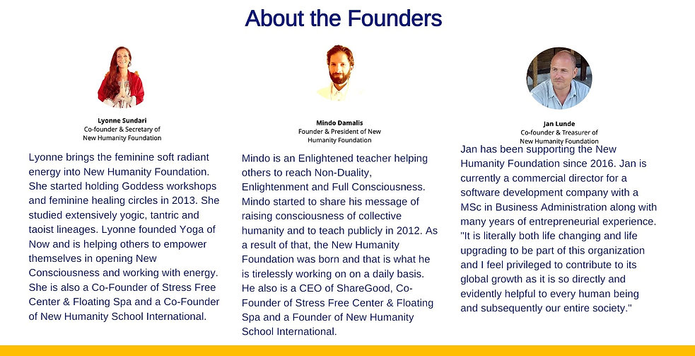 New Humanity Civilization Founders