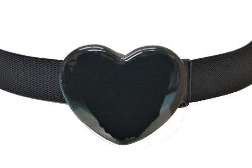 Black Heart Stretch Belt