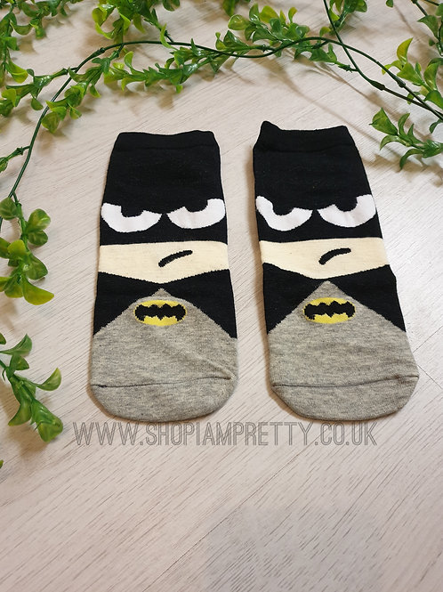 Batman Super Hero Cartoon Novelty Ankle Socks