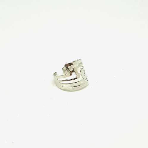 Zig Zag Stainless Steel Ring