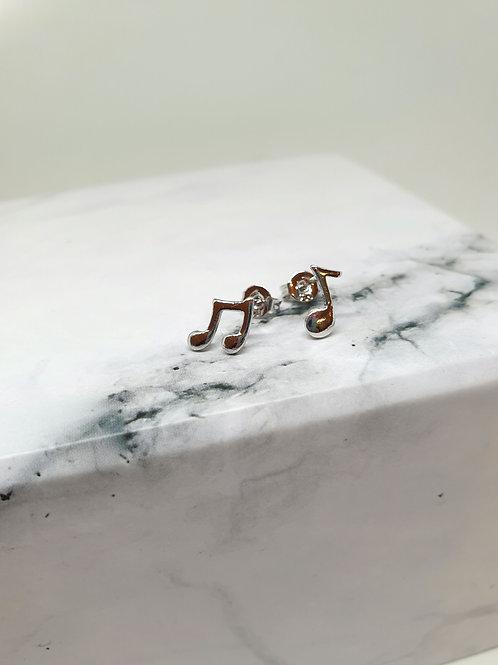 Music Notes Stud Earrings