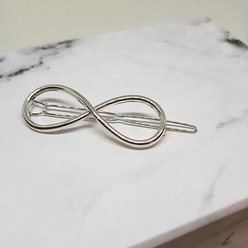 Infinity Silver Hair Pin