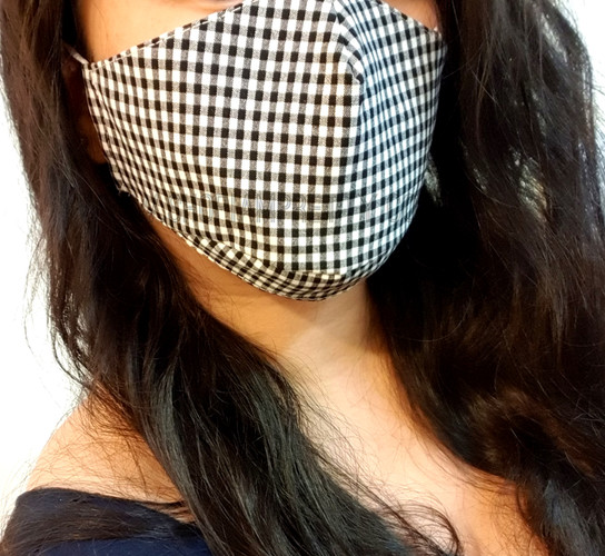 Gingham Face Mask Covering