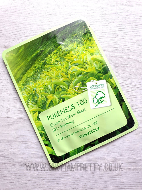Tony Moly Pureness 100 GreenTea Soothing Sheet Mask