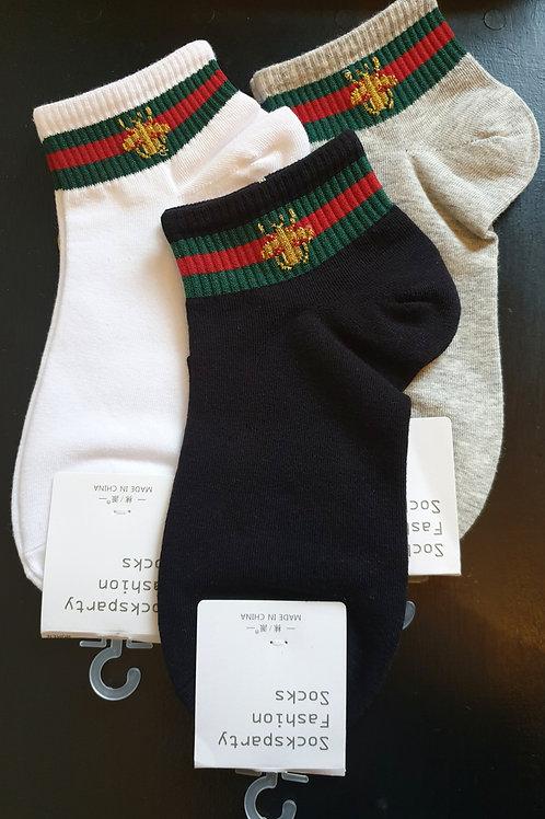 Bee Stripe Socks 3 Pair Pack