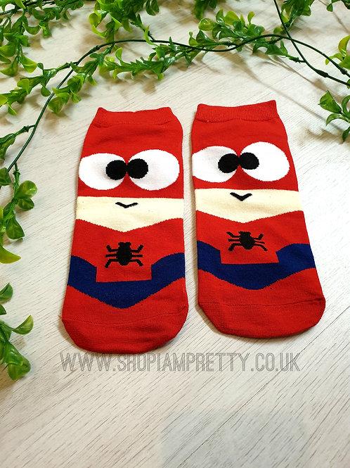 Spiderman Super Hero Cartoon Novelty Ankle Socks