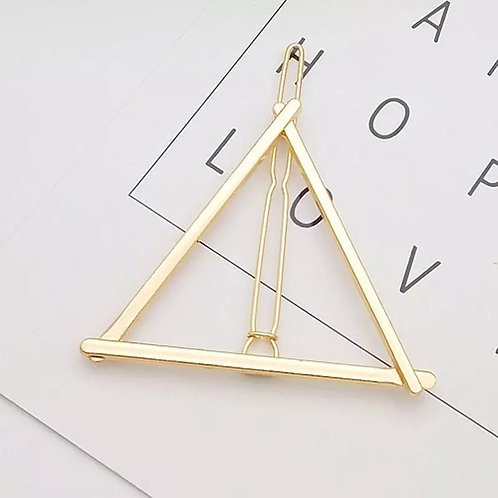 Triangle Pyramid Gold Hair Pin