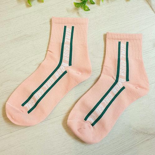 Pink 'GIRL CRUSH ' Designer Inspired Skater Socks