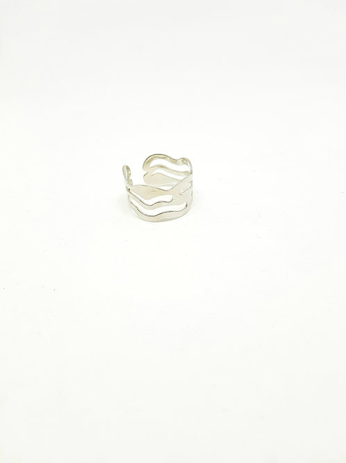 Swiggle Wave Stainless Steel Ring