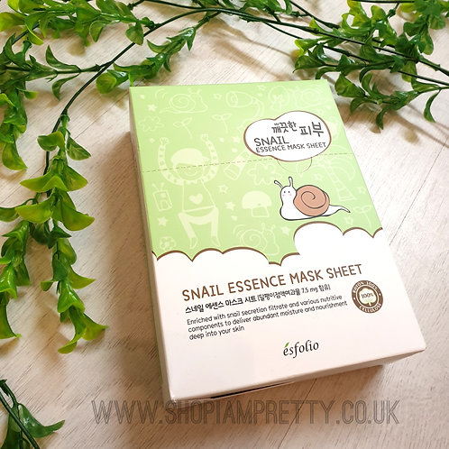 Esfolio Snail Essence Face Mask Sheet x10 Pack