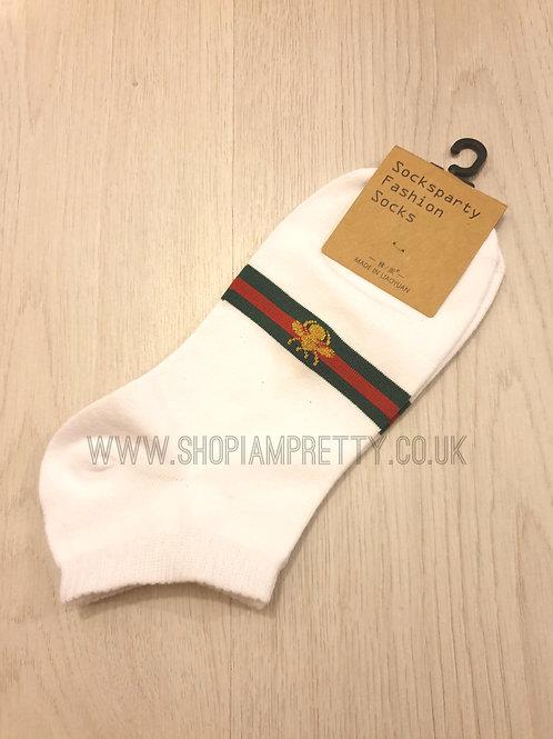 White Bee Designer Inspired Socks