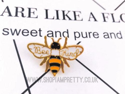 Bee Kind Enamel Brooch Pin