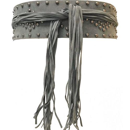Studded Tassel Belt