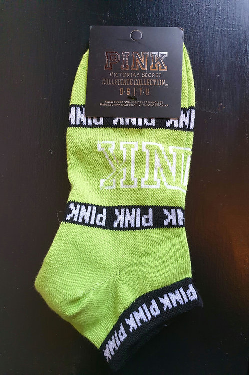 PINK Victoria's Secret Lime Green Socks