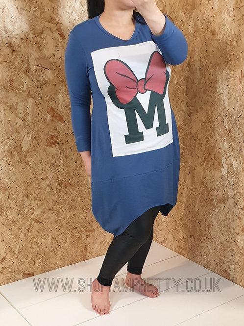 Petrol Blue Minnie Mouse Sweatshirt Dress