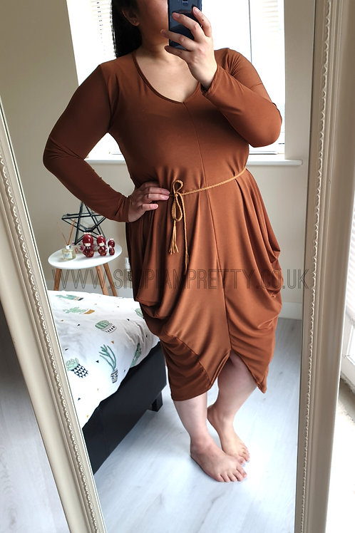Tan Tulip Dress