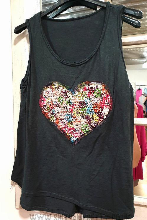 Reversible Sequin Heart Vest