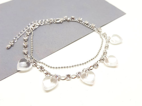Heart Diamante Bracelet