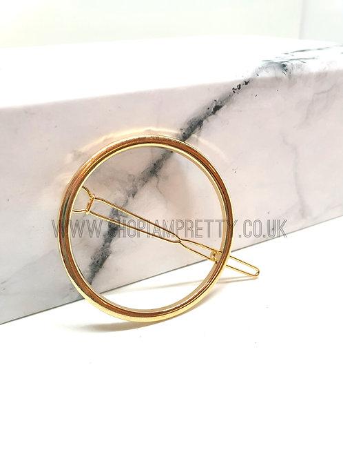 Circle Gold Hair Pin