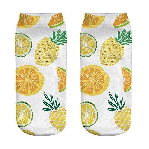 Pineapple & Citrus Fruit Socks