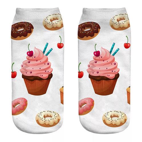 Cupcake Donut Socks