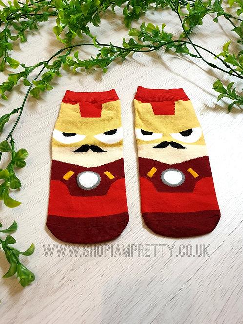 Iron Man Super Hero Cartoon Novelty Ankle Socks
