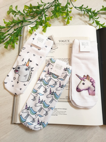 Unicorn Print Ankle Socks
