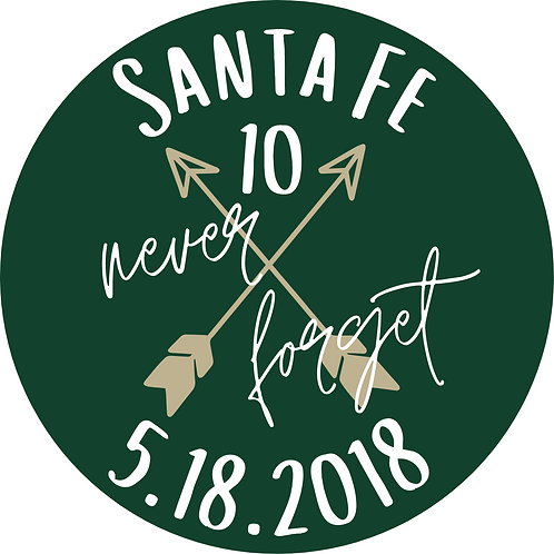 Santa Fe 10 Never Forget 5.18.2018 Decal