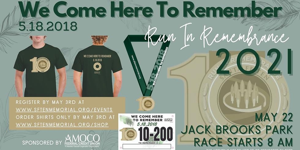 Run in Remembrance 5.18.2018