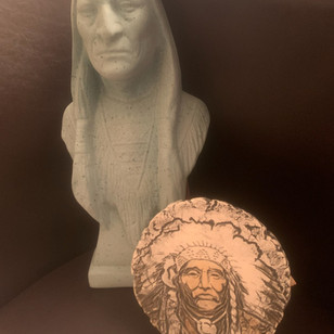 Indian Statue & Plate