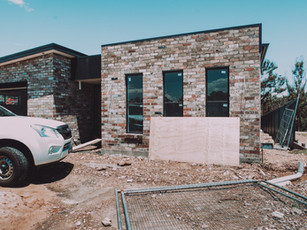 Recycled brick cladding front elevation