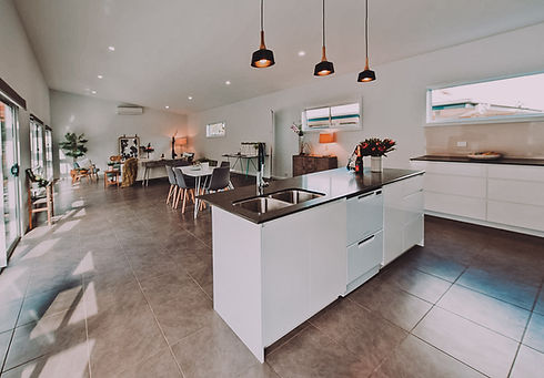 Open plan affordable house design. South Coast NSW. Sustainable home designer Braidwood Queanbeyan Palerang