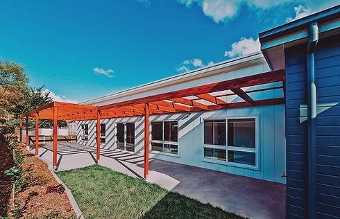 Solar passive design, external shading, thermal mass concrete slab, braidwood, modern floor plan.   Eco home designer