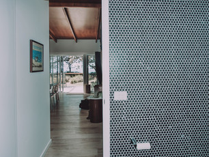 Bathroom Wall tiles are a funky contemporary addition