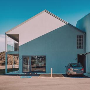 Best architectural detail of scandi modern boutique design using hebel external cladding