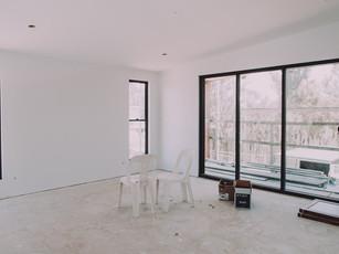 Master Bedroom easy jamb square set windows and door frames