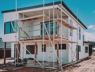 Modern Malua Bay Eco House in construction