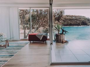 Best image of corner stacker window onto deck overlooking Mosquito Bay