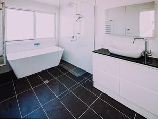 Large bathroom floor plan design for rural homestead
