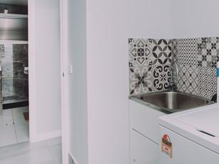 Decorative Laundry Tile Splashback