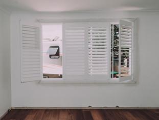 Louvred shutters modern contemporary design